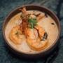 Crevettes flambées au cognac et riz blanc de Camargue