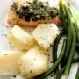 Saumon pané basilic et persil aux Epices Rabelais
