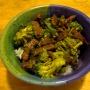 Aiguillettes de bœuf aux brocolis et aux Epices Rabelais