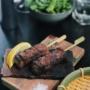 Brochettes de porc à l'ail et aux Epices rabelais