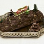 Bûche de Noël au chocolat et pain d'épices